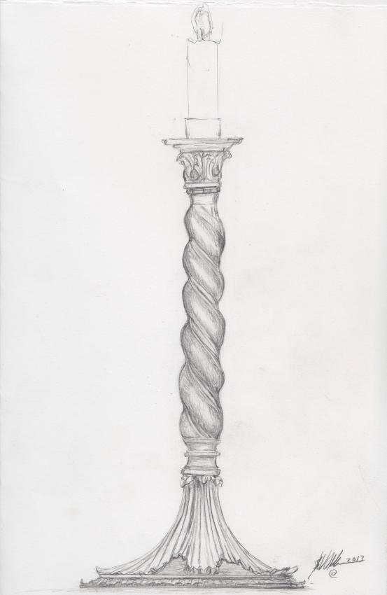 Candlestick Solomonic Acanthus