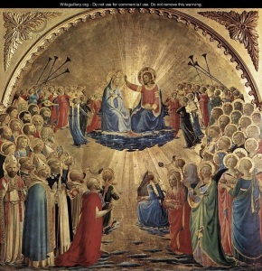 Coronation of The Virgin Mary by  Fra Angelico